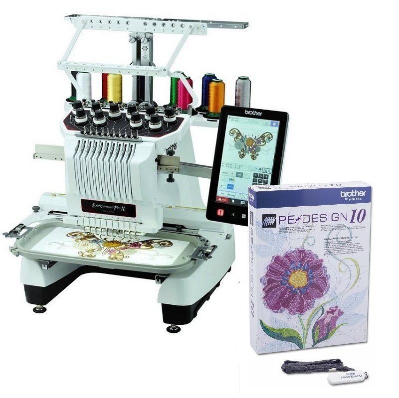 Pr1050x 10 Needle Embroidery Brother Brother Machines