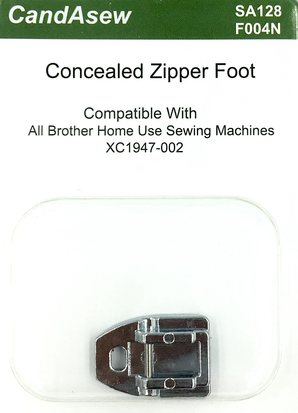 Concealed Zip Foot for Brother (clip-on)